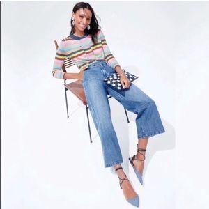 J. Crew | Wide Leg Crop Trouser Culottes Jeans 32